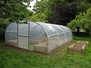 4.5m Tunnel with raised beds