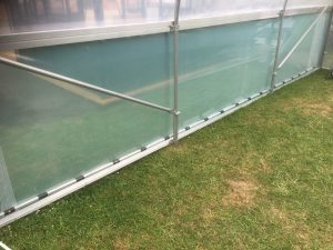 Polytunnel roll up side ventilation