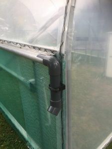 Polytunnel rainwater collection gutters